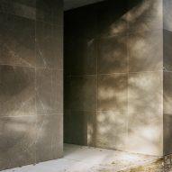 Shadows on wall of Loenen Pavilion by Kaan Architecten
