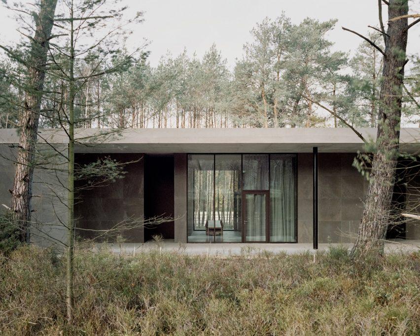 South facade of Loenen Pavilion by Kaan Architecten