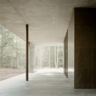 Sheltered bench of Loenen Pavilion by Kaan Architecten