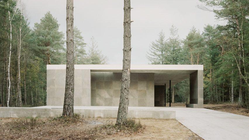 West facade of Loenen Pavilion by Kaan Architecten