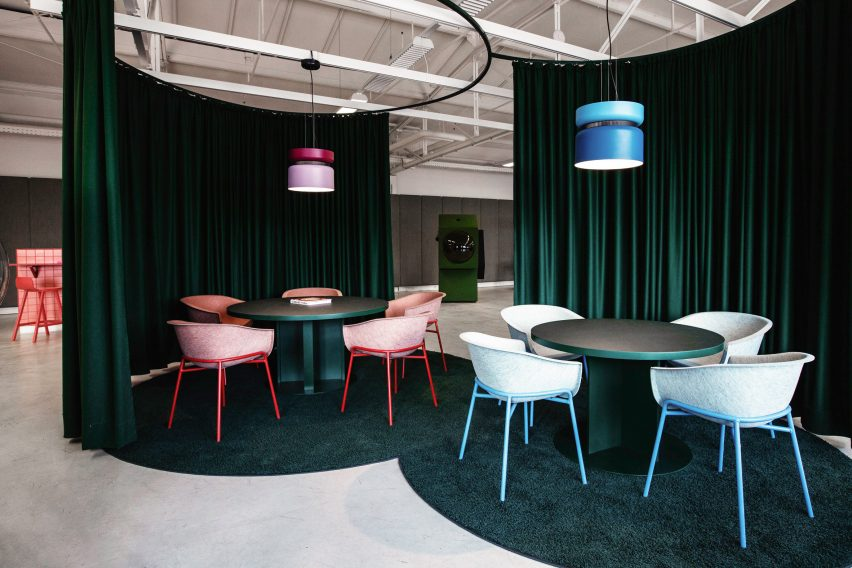 Two meeting rooms in LOQI Activity Office by Studio Aisslinger