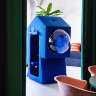 Blue work capsule in LOQI Activity Office by Studio Aisslinger