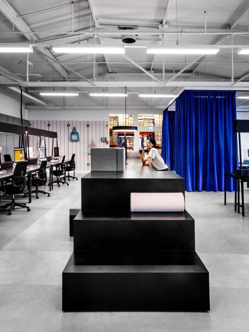 Standing desks in LOQI Activity Office by Studio Aisslinger