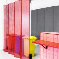 Folding screens in LOQI Activity Office by Studio Aisslinger