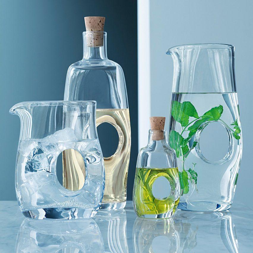 LSA Void Oil/Vinegar Bottle and Cork Stopper