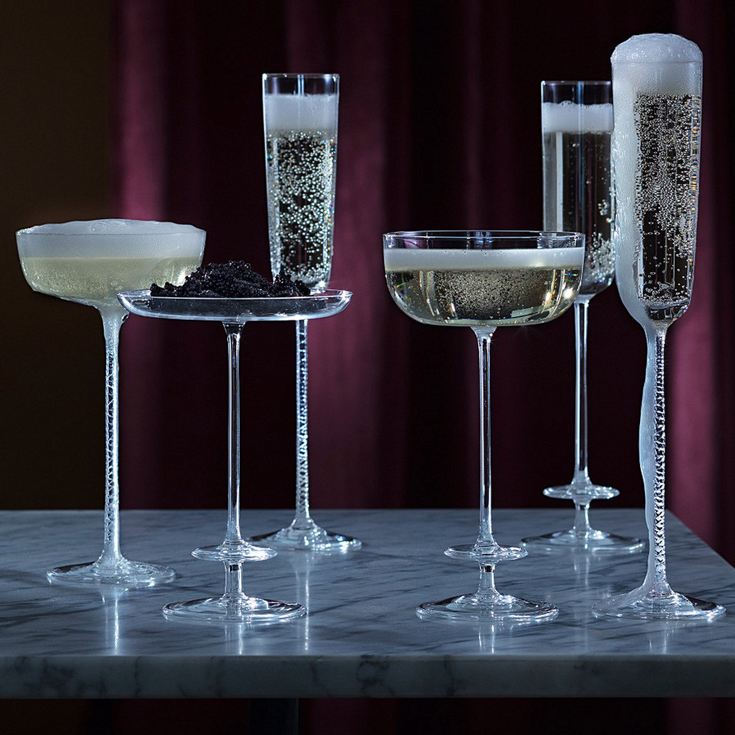 LSA Champagne Theatre Saucers