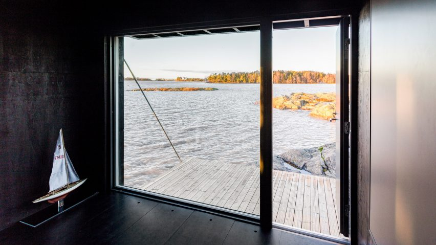 Window of Majamaja off-grid cabin by Pekka Littow