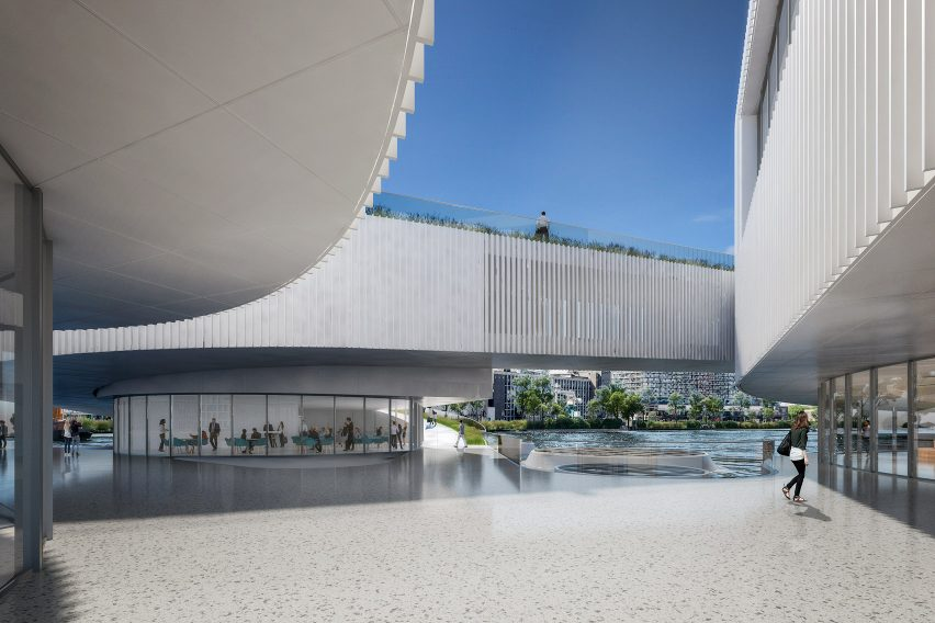 The centre of the Maritime Center Rotterdam by Mecanoo