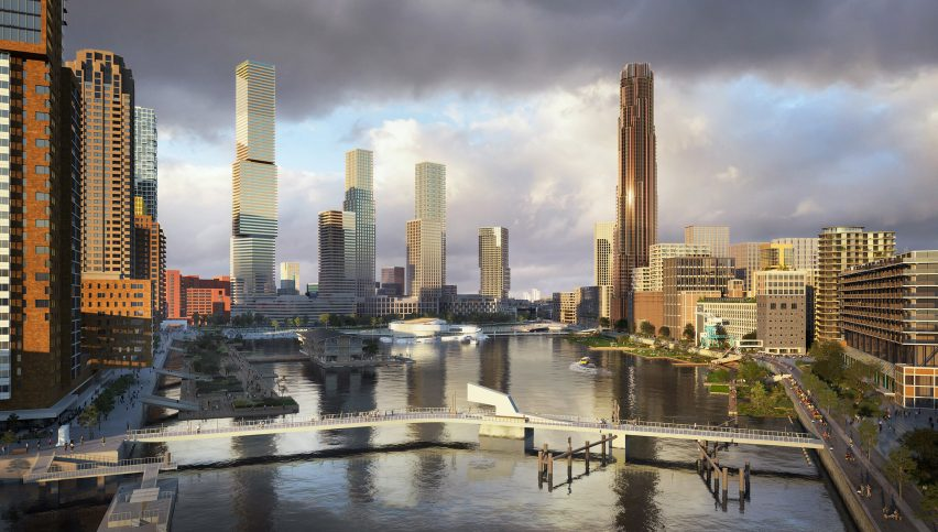 A visual of the Maritime Center Rotterdam by Mecanoo within Rijnhaven harbour