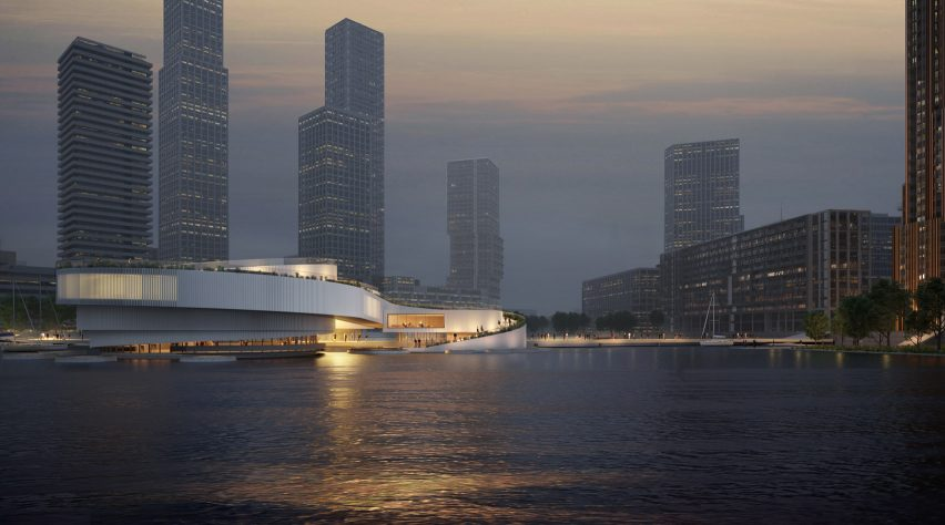 The exterior of the Maritime Center Rotterdam by Mecanoo