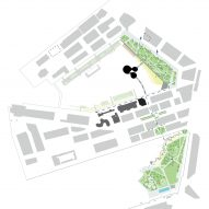 A site plan of the Maritime Center Rotterdam by Mecanoo