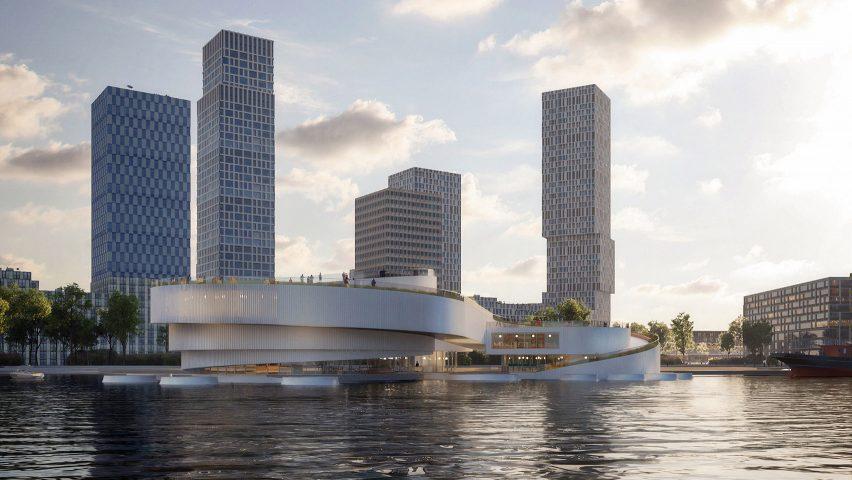 An exterior view of the Maritime Center Rotterdam by Mecanoo