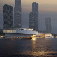 Mecanoo proposes sinuous maritime museum for Rotterdam harbour