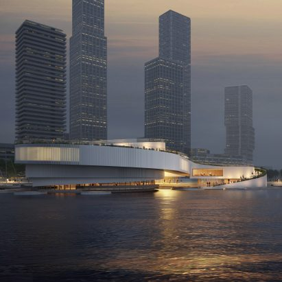 An exterior view of the Maritime Center Rotterdam by Mecanoo