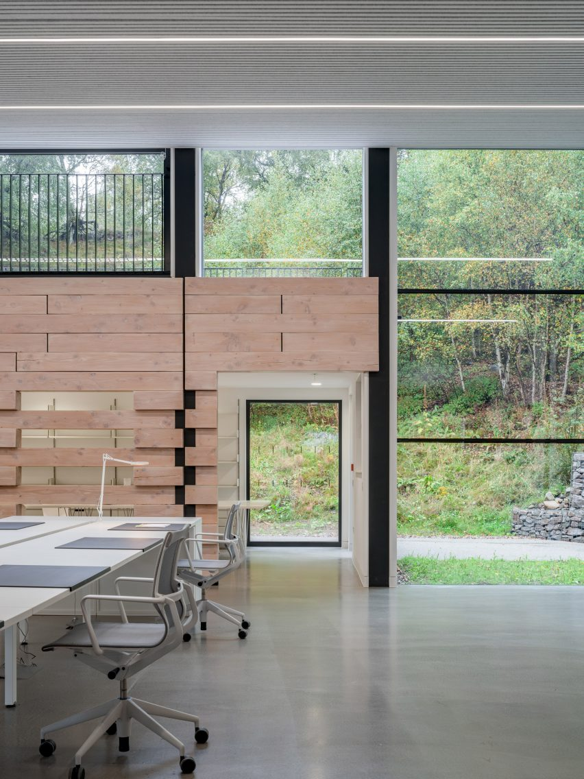 Studio workspace at Quarry Studios by Moxon Architects