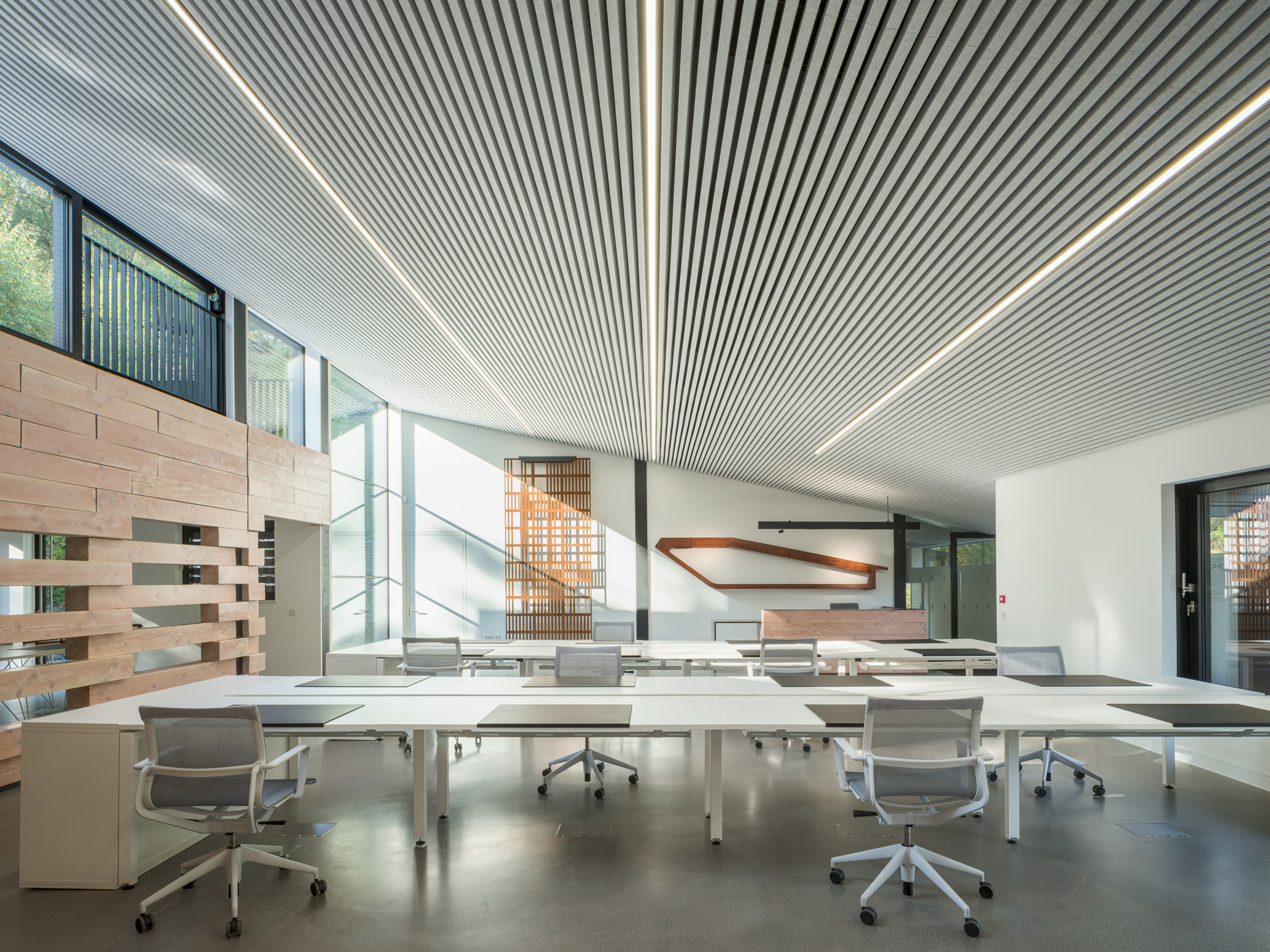 Clerestory windows allow light into Quarry Studios by Moxon Architects