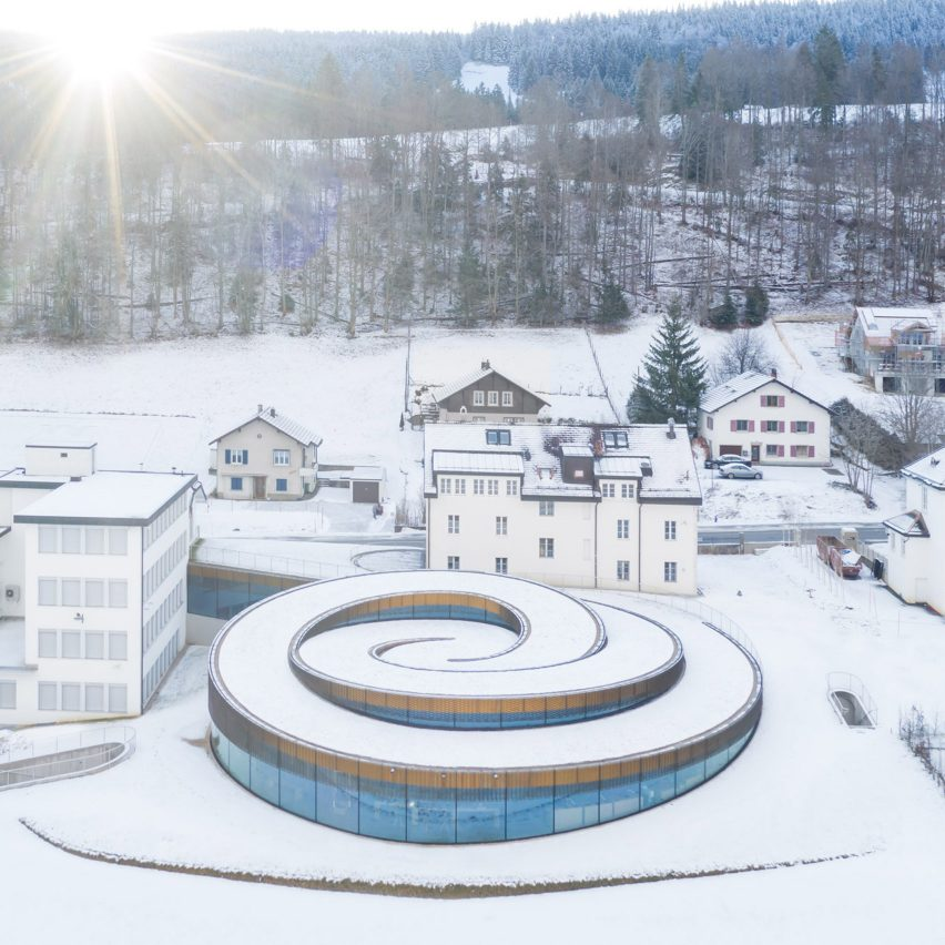 An aerial view of Musée Atelier Audemars Piguet, Switzerland, by BIG