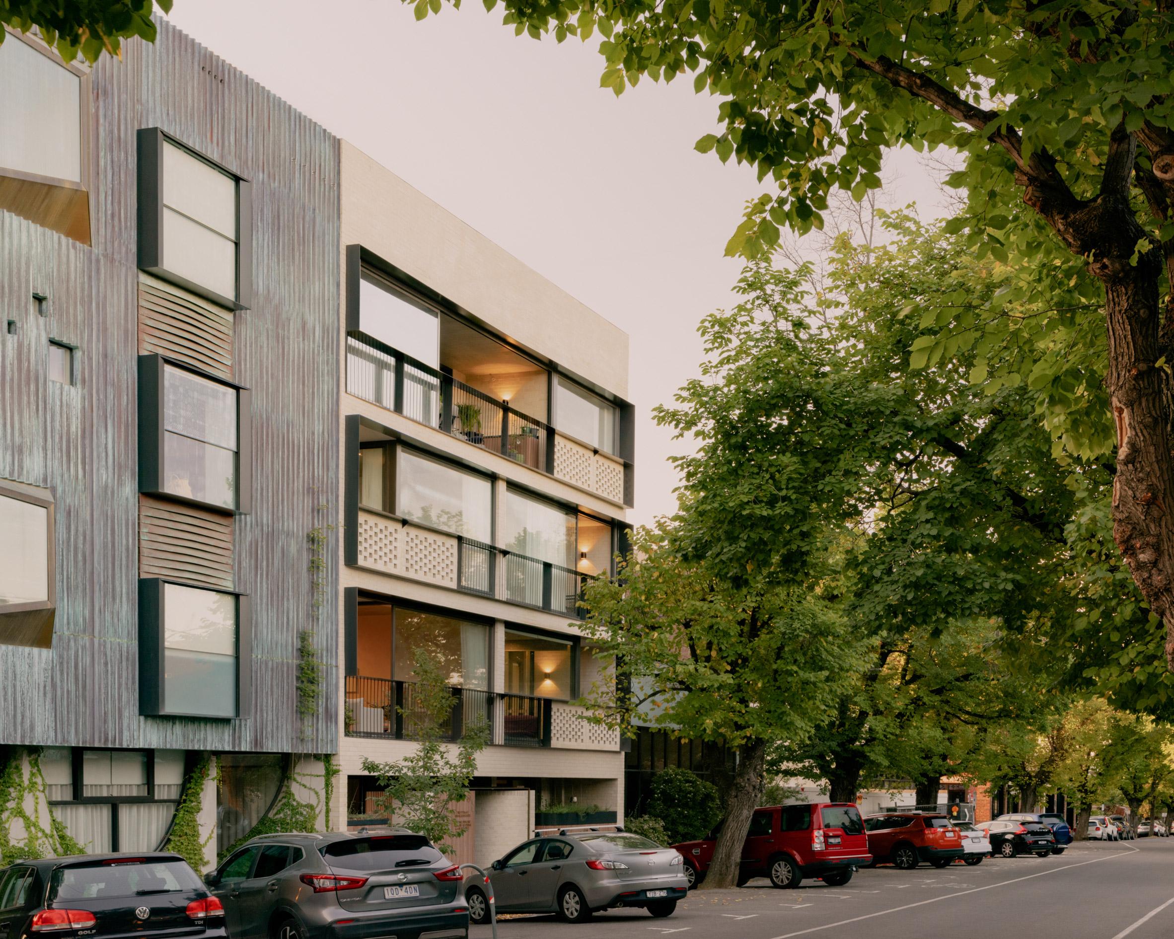 Exterior of Napier Street apartments by Freadman White