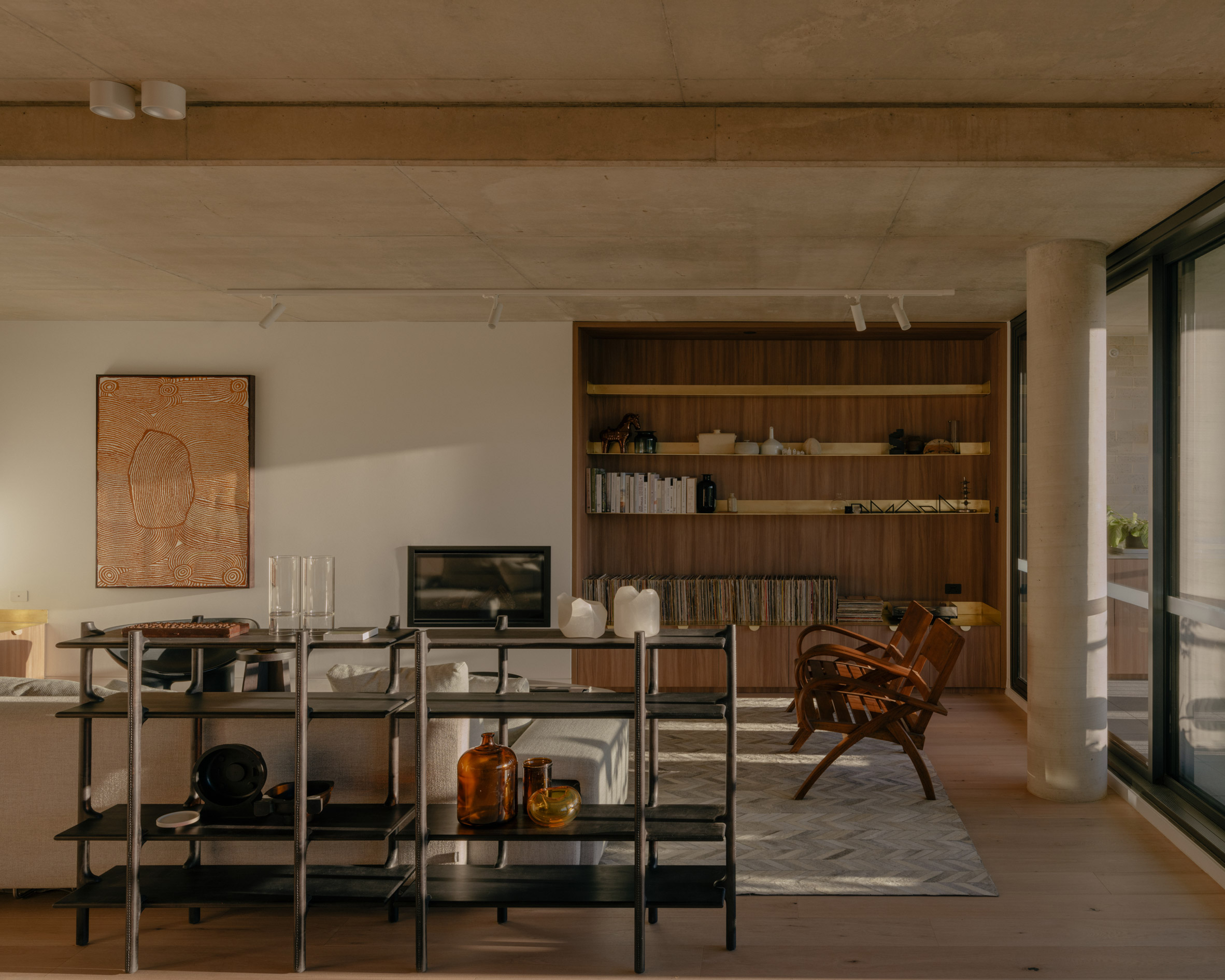 Living rooms of Napier Street apartments by Freadman White