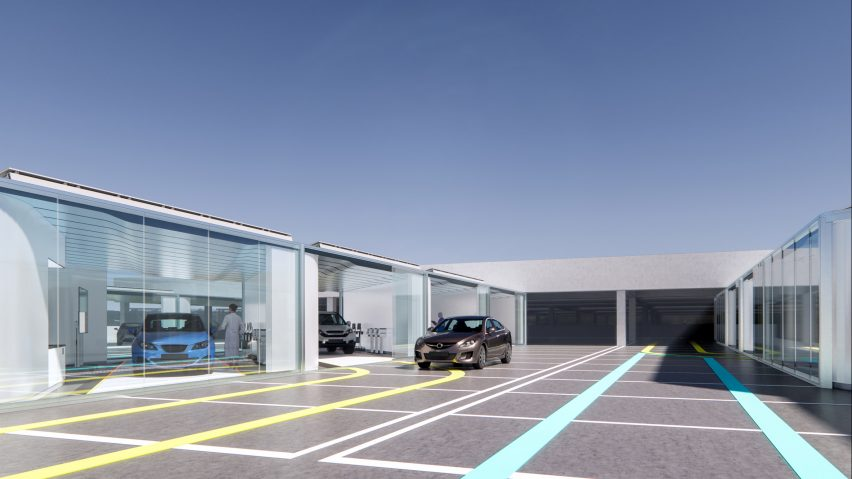 In Car Care drive-through clinic concept by NBBJ
