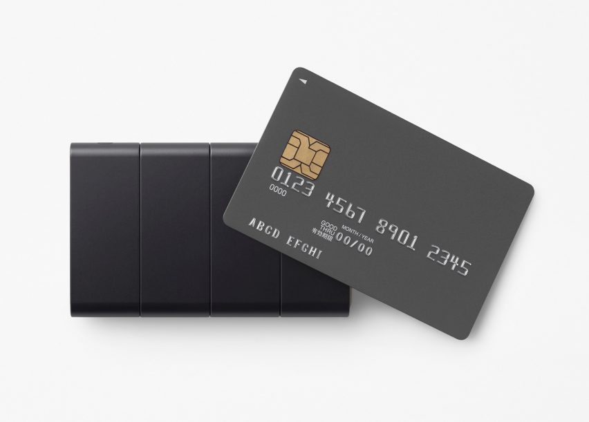 Nendo's Slide-Phone folds down to the size of a credit card