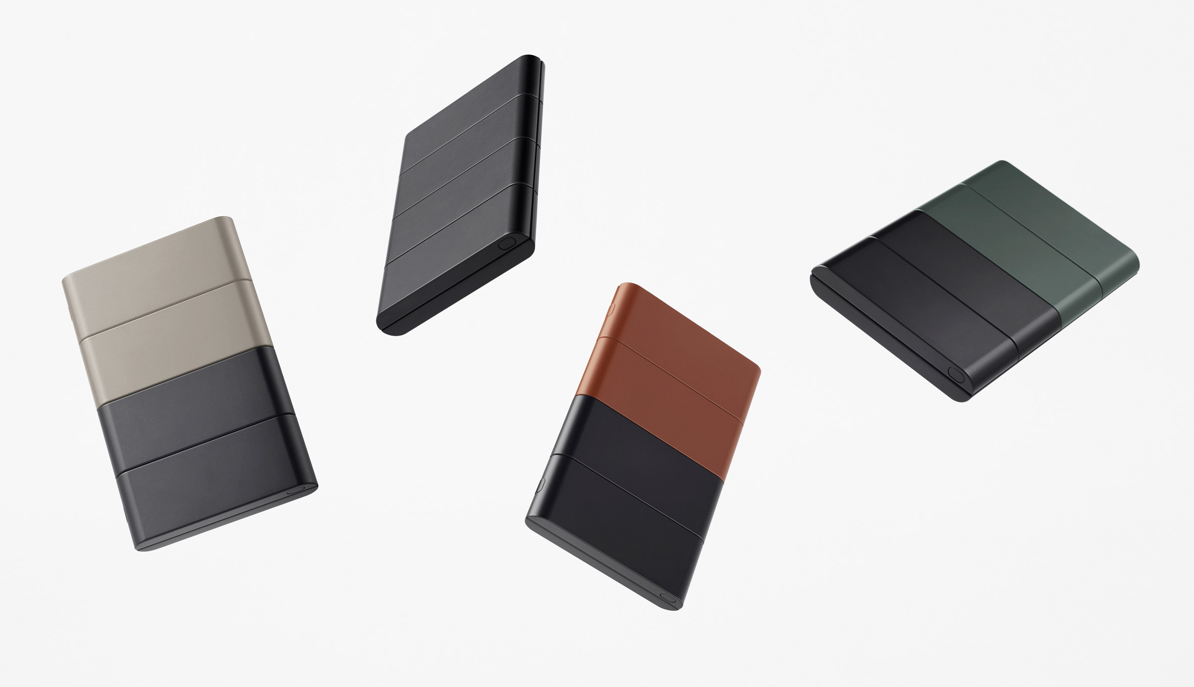 The Slide-Phone concept by Nendo for OPPO in different colours