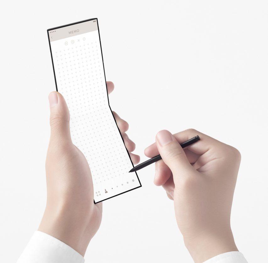Η αντίληψη της Nento για το κινητό τηλέφωνο για το OPPO διαθέτει γραφίδα