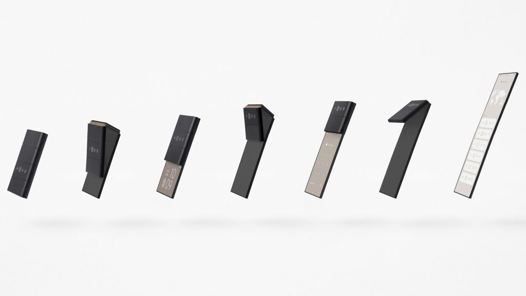 "Nendo designs smartphone that folds down ""like an inchworm"" to the size of a credit card"