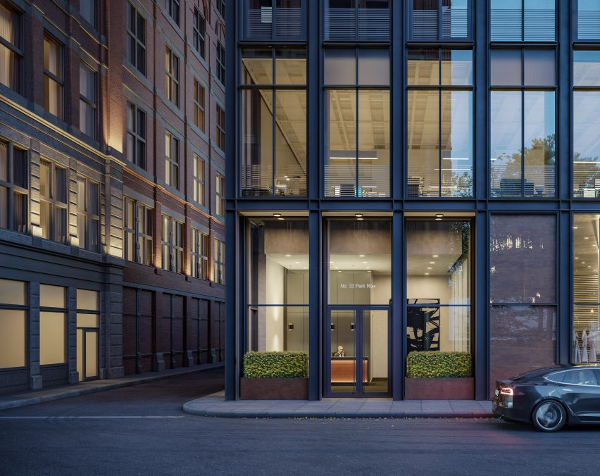 Exterior of No 33 Park Row by Rogers Stirk Harbour + Partners