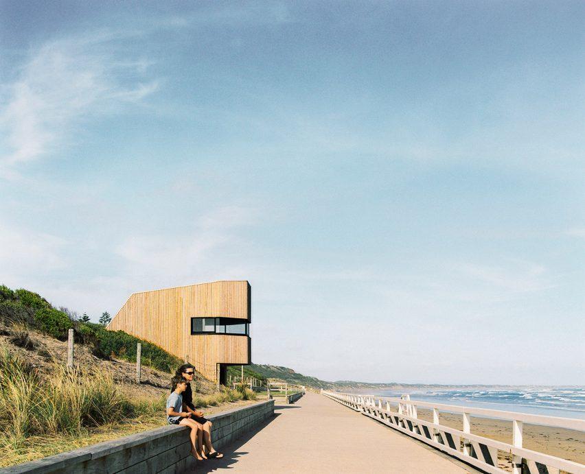 Control tower alongside sea