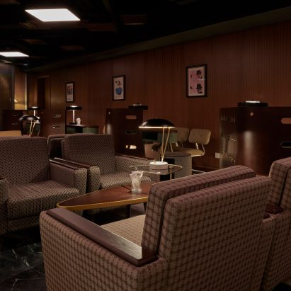 Out Of Office bar in Guangzhou has Mad Men-inspired interiors
