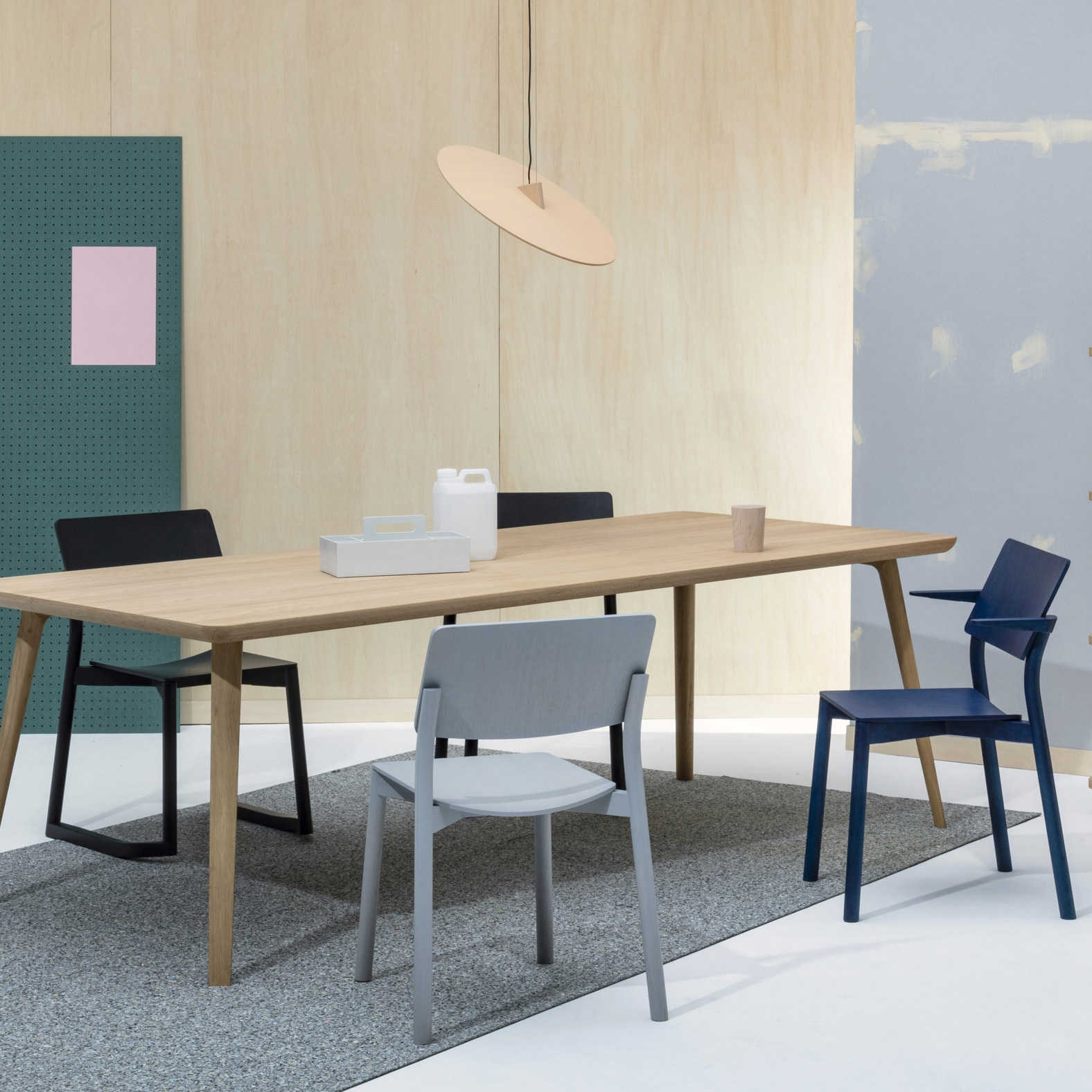 Panorama chair by Geckeler Michels for Karimoku around table