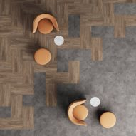 Patcraft's Inset flooring collection resembles wood and concrete