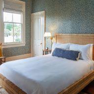 Bedroom of Post House inn in Charleston, South Carolina