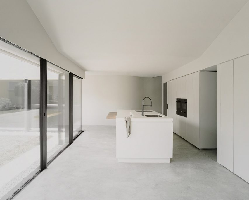 Kitchen of Pyramid House in Switzerland by DF_DC