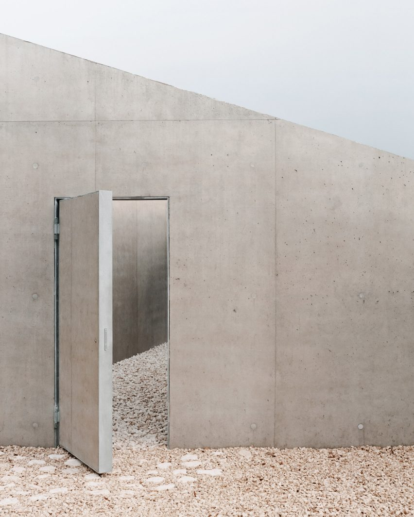 An entrance to Pyramid House in Switzerland by DF_DC