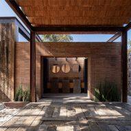 Bathroom at the Rancho Sierra Allende by Fabián M Escalante H Arquitectos