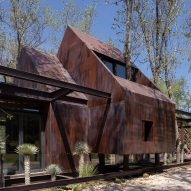 Rancho Sierra Allende is a gabled Mexican holiday home wrapped around trees