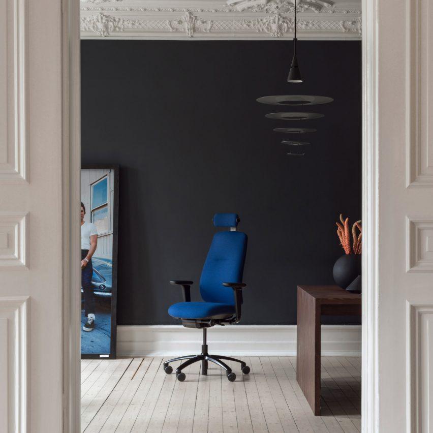 RH New Logic chair by StokkeAustad for Flokk in an interior setting