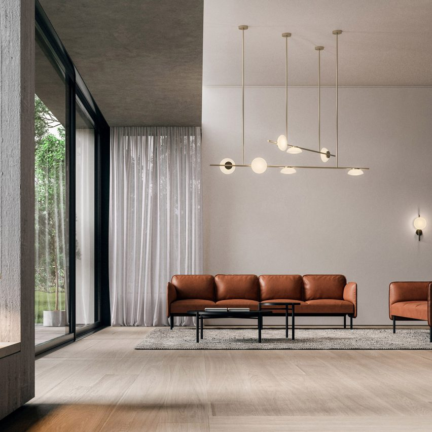 Ceto horizontal chandelier by Ross Gardam