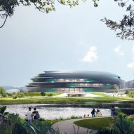 The exterior of Shenzhen Science and Technology Museum by Zaha Hadid Architects