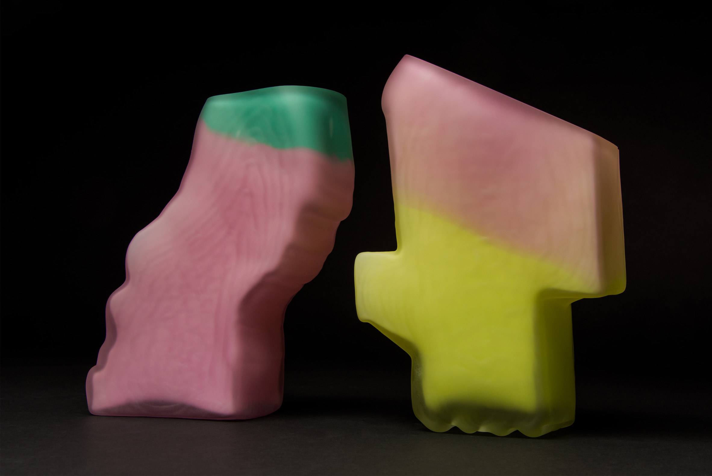 Shifting Shape vase collection by Jonatan Nilsson