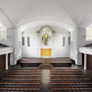 The nave of the refurbished St John at Hackney by John Pawson and Thomas Ford & Partners