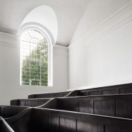 The balconies of the refurbished St John at Hackney by John Pawson and Thomas Ford & Partners