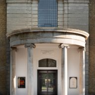The entrance of the refurbished St John at Hackney by John Pawson and Thomas Ford & Partners