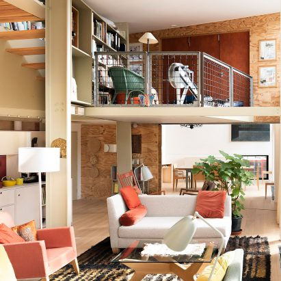 The living room of the refurbished Stock Orchard Street by Sarah Wigglesworth in London