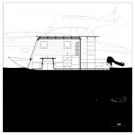 Sneci houseboat by Tamás Bene