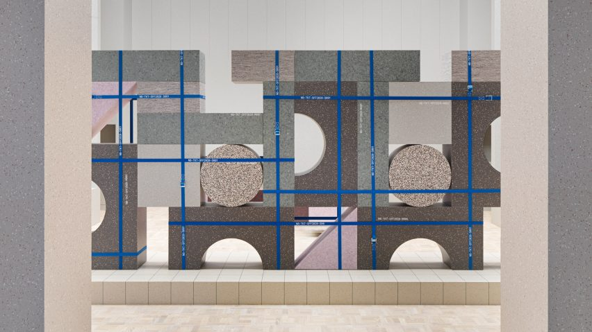 Note Design Studio created an exhibition stand for Tarkett