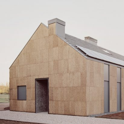 The entrance to The House of Wood, Straw and Cork by LCA Architetti