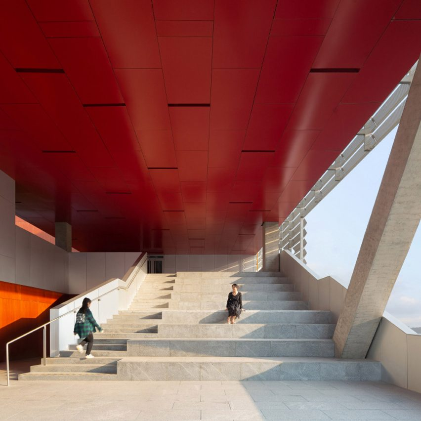 Stairs in Pingshan Performing Arts Center